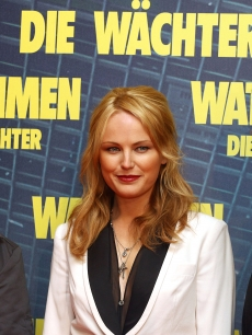 Billy Crudup, Malin Akerman and Patrick Wilson attend the &#8216;Watchmen&#8217; (&#8216;Die Waechter&#8217;) photocall at hotel Bayerischer Hof on February 26, 2009 in Munich, Germany