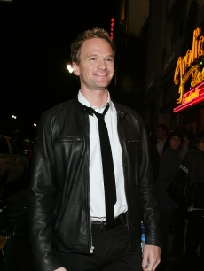Neil Patrick Harris loosens up at the opening night of 'Rent' at the Pantages Theare in Hollywood