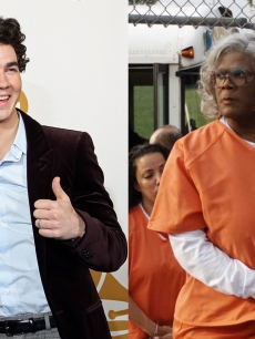 Kevin Jonas of the Jonas Brothers and Tyler Perry as Madea