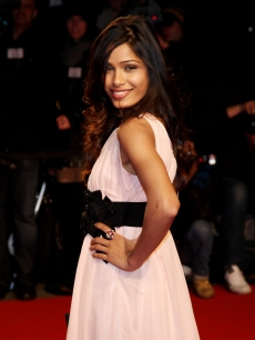 Freida Pinto attends the Extreme Beauty In Vogue party at the Palazzina della Ragione during Milan Fashion Week 2009