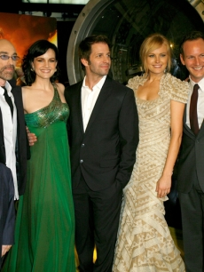 Billy Crudup, Donny Woodburn, Jackie Earle Haley, Carla Gugino, Zack Snyder, Malin Ackerman, Patrick Wilson and Jeffrey Dean Morgan at the LA 'Watchmen' premiere