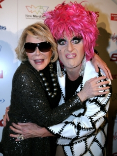 Joan Rivers and Mitzi Macintosh attend the 2009 Mardi Gras in Sydney