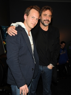 Patrick Wilson and Jeffrey Dean Morgan visit the Apple Store Soho March 5, 2009 in New York City