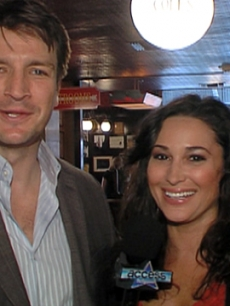 Nathan Fillion & Laura Saltman