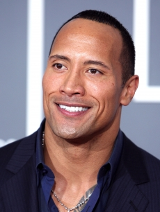 Dwayne Johnson arrives at the 51st Annual Grammy Awards in LA