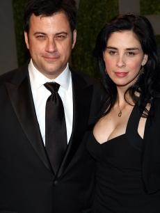 Jimmy Kimmel and Sarah Silverman arrive at the 2009 Vanity Fair Oscar party