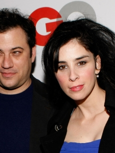 Jimmy Kimmel and Sarah Silverman at the 2008 GQ Man of the Year red carpet in November 2008