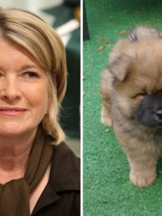 Martha Stewart and her dog Ghenghis Khan