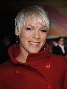 Pink poses as she attends the Stella McCartney Ready-to-Wear AW 2009 fashion show during Paris Fashion Week