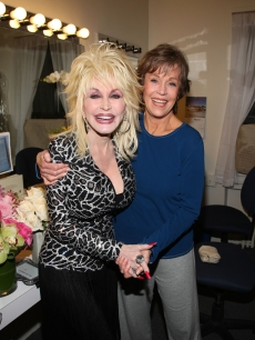 Dolly Parton and Jane Fonda attend the opening night of '33 Variations' on Broadway