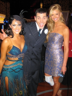 Nancy O'Dell with Steve-O and Lacey Schwimmer