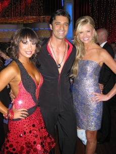 NancyODell with Gilles Marini and Cheryl Burke