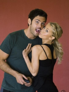 Chuck Wicks and Julianne Hough joke around