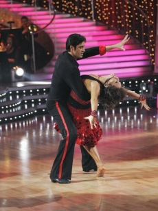 Gilles Marini and Cheryl Burke DWTS Week 1