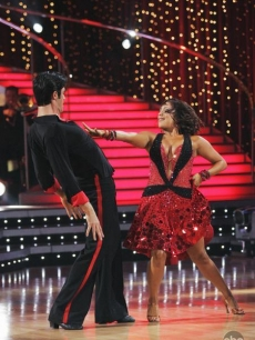 Gilles Marini and Cheryl Burke DWTS Week One