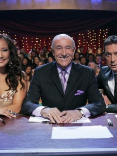 Judges Carrie Ann Inaba, Len Goodman and Bruno Tonioli DWTS Week One
