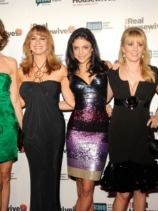 Kelly Killoren Bensimon, LuAnn de Lesseps, Jill Zarin, Bethenny Frankel, Ramona Singer, and Alex McCord attend 'The Real Housewives of New York City' season 2 premiere party at Gilt at the Palace Hotel on February 11, 2009 in New York City