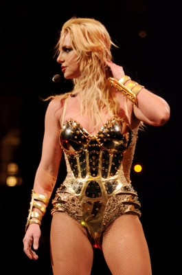 Britney Spears performs onstage during the opening night of 'The Circus Starring Britney Spears' tour at the New Orleans