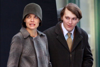 Katie Holmes and Paul Dano, in New York for their film, &#8216;The Extra Man&#8217;