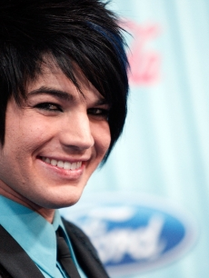 Adam Lambert arrives at the 'American Idol' Top 13 Party held at AREA on March 5, 2009 in Los Angeles, California