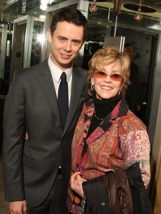 Colin Hanks and Jane Fonda attend the after party for The Cinema Society and Brooks Brothers screening of &#8216;The Great Buck Howard&#8217; at Soho Grand Hotel