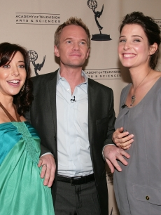 Alyson Hannigan, Neil Patrick Harris and Cobie Smulders in January 2009