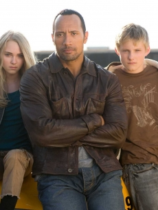 AnnaSophia Robb, Dwayne Johnson and Alexander Ludwig, stars of 'Race To Wtich Mountain'