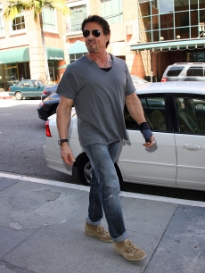 Sylvester Stallone sighting on March 16, 2009 in Beverly Hills, California