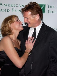 Natasha Richardson and husband Liam Neeson attend the American Ireland Fund's 33rd Annual New York Gala Fundraiser at The Tent at Lincoln Center on May 8, 2008 in New York City
