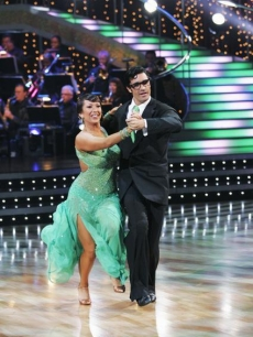 Cheryl Burke and Gilles Marini perform the quickstep on week 2 of &#8216;Dancing&#8217;