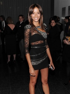 Selita Ebanks attends the premiere of 'Valentino: The Last Emperor' at The Museum of Modern Art on Tuesday, March 17, 2009 in New York