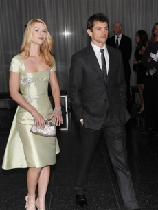 Claire Danes and fiance Hugh Dancy attend the premiere of 'Valentino: The Last Emperor' at The Museum of Modern Art on Tuesday, March 17, 2009 in New York