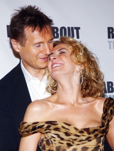 Natasha Richardson and husband Liam Neeson leave Studio 54 after the opening of 'A Streetcar Named Desire' on April 26, 2005 in New York