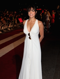 Michelle Rodriguez arrives for the UK Premiere of 'Fast and Furious' at Vue West End cinema in Leicester Sqaure on March19, 2009 in London, England
