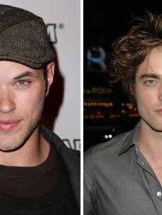 Kellan Lutz and Robert Pattinson of 'Twilight'