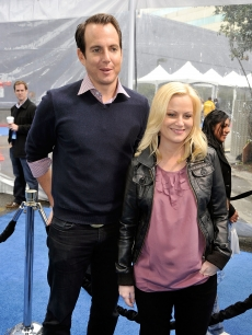 Comic couple Will Arnett and Amy Poehler at the &#8216;Monsters Vs. Aliens&#8217; premiere in LA