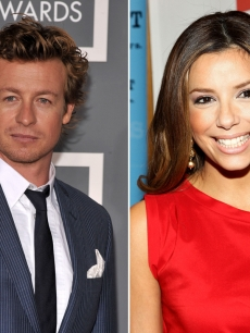 Simon Baker and Eva Longoria Parker