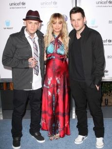 Benji Madden, Nicole Richie and Joel Madden arrive to the Sony Cierge and The Richie-Madden Children's Foundation's private cocktail event