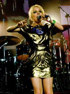 Victoria Hesketh aka Little Boots performs at the Perez Hilton's One Night In Austin Party as part of SXSW 2009 on March 21, 2009 in Austin, Texas