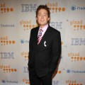 Clay Aiken shows off a patriotic tie at the 20th Annual GLAAD Media Awards at the Marriott Marquis in New York