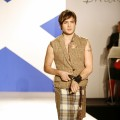 Ed Westwick walking the &#8216;Dressed To Kilt&#8217; runway