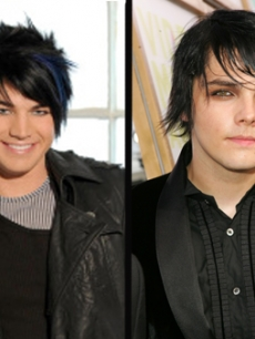 Adam Lambert from 'American Idol' and Gerard Way from My Chemical Romance