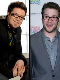 Danny Gokey and Seth Rogen