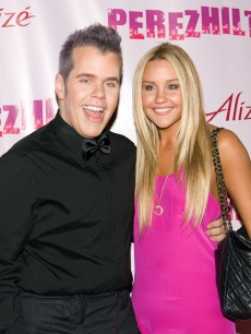 Perez Hilton and Amanda Bynes at the Viper Room to celebrate the gossip blogger's birthday in LA