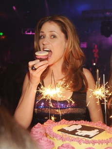 'Office' star Jenna Fischer celebrates her birthday at Prive Las Vegas