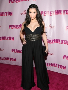 Kim Kardashian arrives at Perez Hilton&#8217;s &#8216;OMFB&#8217; 31st Birthday Party