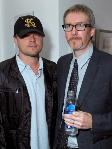 Leonardo DiCaprio and Todd Schorr attend Todd Schorr The World We Live In' solo art exhibition hosted by David Arquette at the Merry Karnowsky Gallery on March 28, 2009 in Los Angeles, California