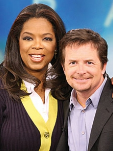 Oprah Winfrey and Michael J. Fox