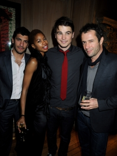 Simon Kassianindes, Tolula Adeyemi, Josh Hartnett and James Purefoy attend the London VIP launch event of Hollywood Domino, at Mosimann's on November 7, 2008 in London, England