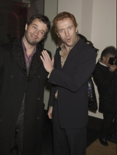 James Purefoy and Damien Lewis attend the Armani Fashion Show Closing Gala, held at the Royal Academy in London, on February 12th 2004